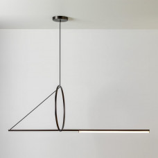 Люстра Suspension Cercle Et Trait – Graphite Satine  120 см
