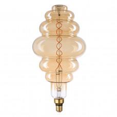 Лампа светодиодная филаментная Thomson E27 8W 1800K вздутая прозрачная TH-B2185