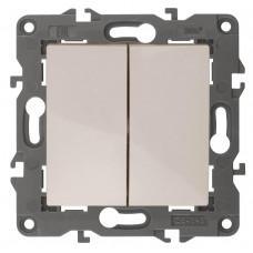 Выключатель двухклавишный ЭРА Elegance 10AX 250V 14-1104-02 Б0034231