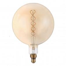 Лампа светодиодная филаментная Thomson E27 8W 1800K шар прозрачная TH-B2176