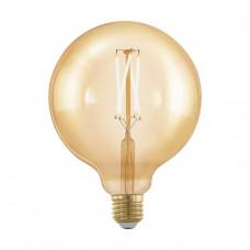 Лампа светодиодная филаментная диммируемая Eglo E27 4W 1700К золотая 11694