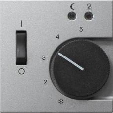 Лицевая панель Gira System 55 термостата теплого пола алюминий 149426