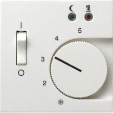 Лицевая панель Gira System 55 термостата теплого пола чисто-белый шелковисто-матовый 149427