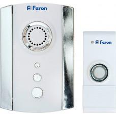 Звонок дверной беспроводной Feron Е-368 Электрический 35 мелодий белый хром с питанием от батареек