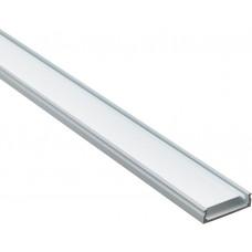 Профиль алюминиевый накладной широкий, серебро, CAB263