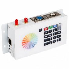 Панель-регулятора цвета RGBW клавишная накладная Arlight SR-2816 DMX SR-2816WI White (12V, WiFi, 8 зон)