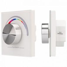 Панель-регулятора цвета RGB роторная встраиваемая Arlight Rotary SR-2836-RGB White (3V,RGB,1зона)