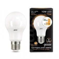 Лампа светодиодная Gauss 1025 E27 10Вт 2700, 4100K 102502110-T