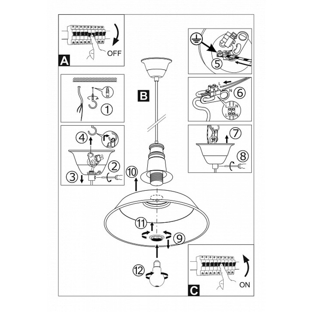 Подвесной светильник Somerton 1 49398