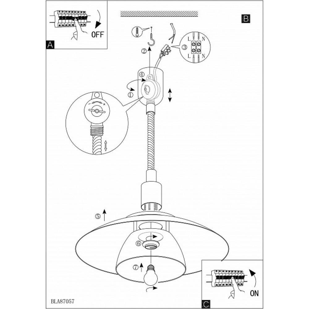 Подвесной светильник Brenda 87057
