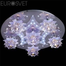 Светильник потолочный Eurosvet 5352/6 хром/белый-синий+красный+фиолетовый