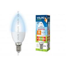Лампа светодиодная диммируемая Volpe LED-C37-6W/NW/E14/FR/DIM/