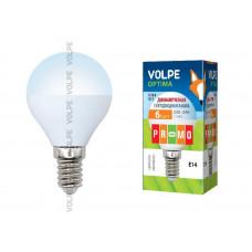 Лампа светодиодная диммируемая Volpe LED-G45-6W/NW/E14/FR/DIM/O
