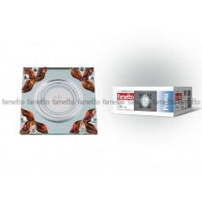 Светильник встраиваемый декоративный ТМ Fametto DLS-P109 GU5.3 CHROME/CLEAR+TEA, серия Peonia. Квадратный. Без лампы, цоколь GU5.3. Основание металл, цвет хром.