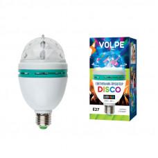 Светильник дискотека светодиодный ULI-Q301 03W/RGB/E27 WHITE