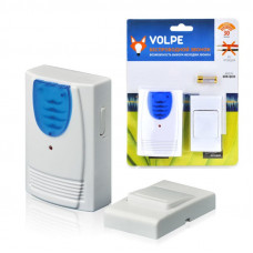 Звонок беспроводной ТМ Volpe UDB-Q023 W-R1T1-16S-30M-WH 16 мелодий. Световая индикация. Радиус действия 30 метров. Блистерная упаковка. Цвет-белый