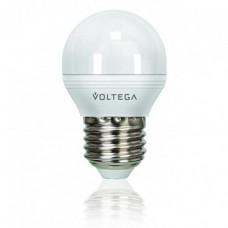 Лампа светодиодная диммируемая E27 6W 4000К шар матовый VG2-G2E27cold6W-D 5496